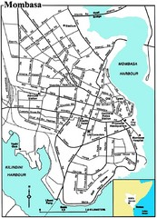 Mombasa City Map