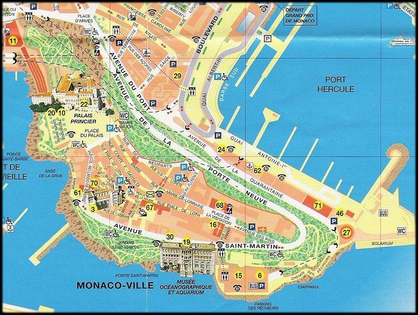 Monaco Ville Map mappery