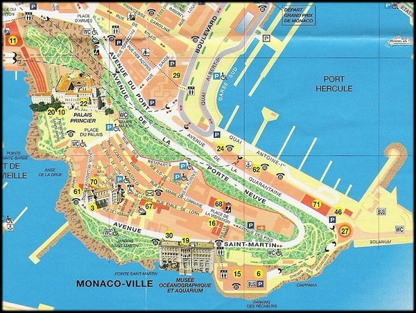 Monaco Tourist Map Monaco mappery