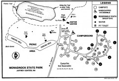 Monadnock State Park map