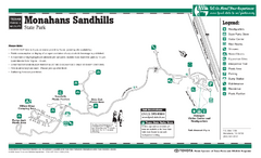Monahans-Sandhills, Texas State Park Facility and Trail Map