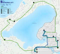 Monona Lift Bus Route Map
