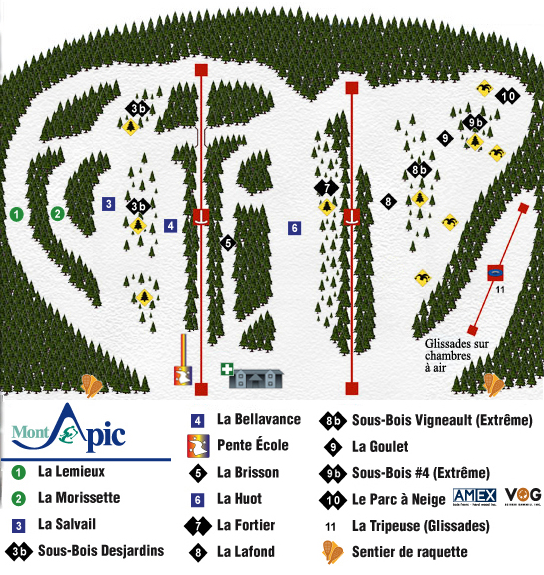 Mont Apic Ski Trail Map