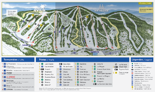 Mont Avila Ski Trail Map
