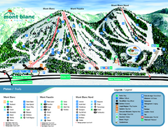 Mont Blanc Ski Trail Map