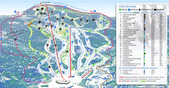 Mont Edouard Ski Trail Map