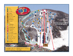 Mont Gleason Ski Trail Map