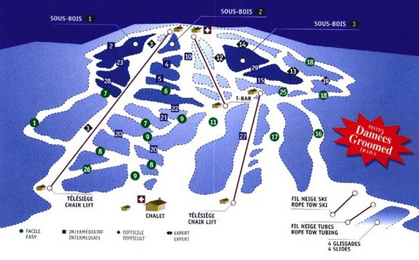 Mont Glen Ski Trail Map