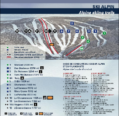 Mont Grand Fonds Ski Trail Map
