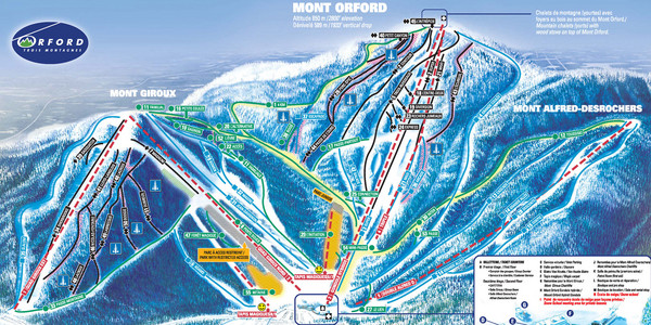 Mont Orford Ski Trail Map
