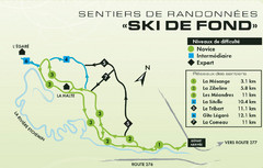 Mont Orignal Ski Trail Map