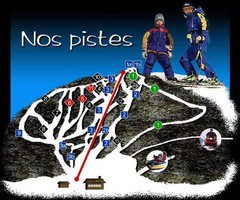 Mont Pin Rouge Ski Trail Map