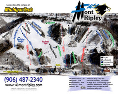 Mont Ripley Ski Trail Map