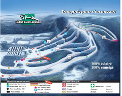Mont Saint-Bruno Ski Trail Map
