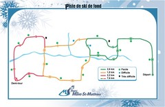 Mont Saint-Mathieu Ski Trail Map