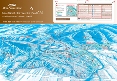 Mont-Sainte-Anne Nordic Ski Trail Map