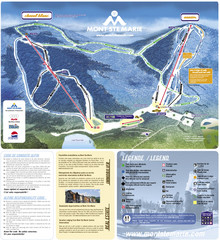 Mont Ste-Marie Ski Trail Map