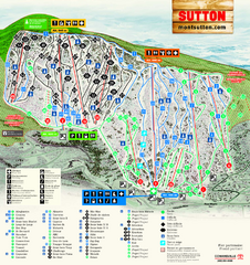 Mont Sutton Ski Trail Map