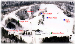 Mont du Lac Ski Area Ski Trail Map