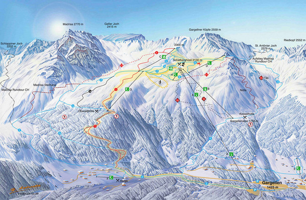 Montafon Ski Trail Map