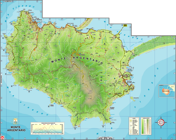 Monte Argentario Overview Map
