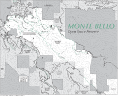 Monte Bello Open Space Preserve Map
