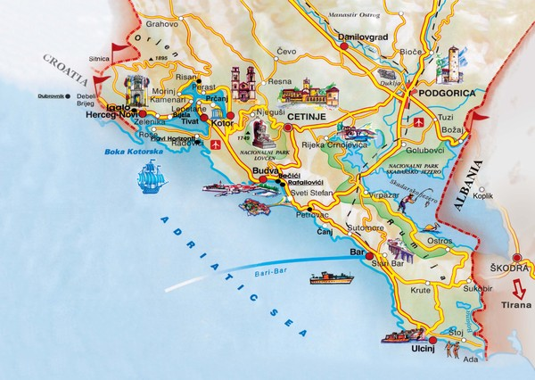 Montenegro maps mappery