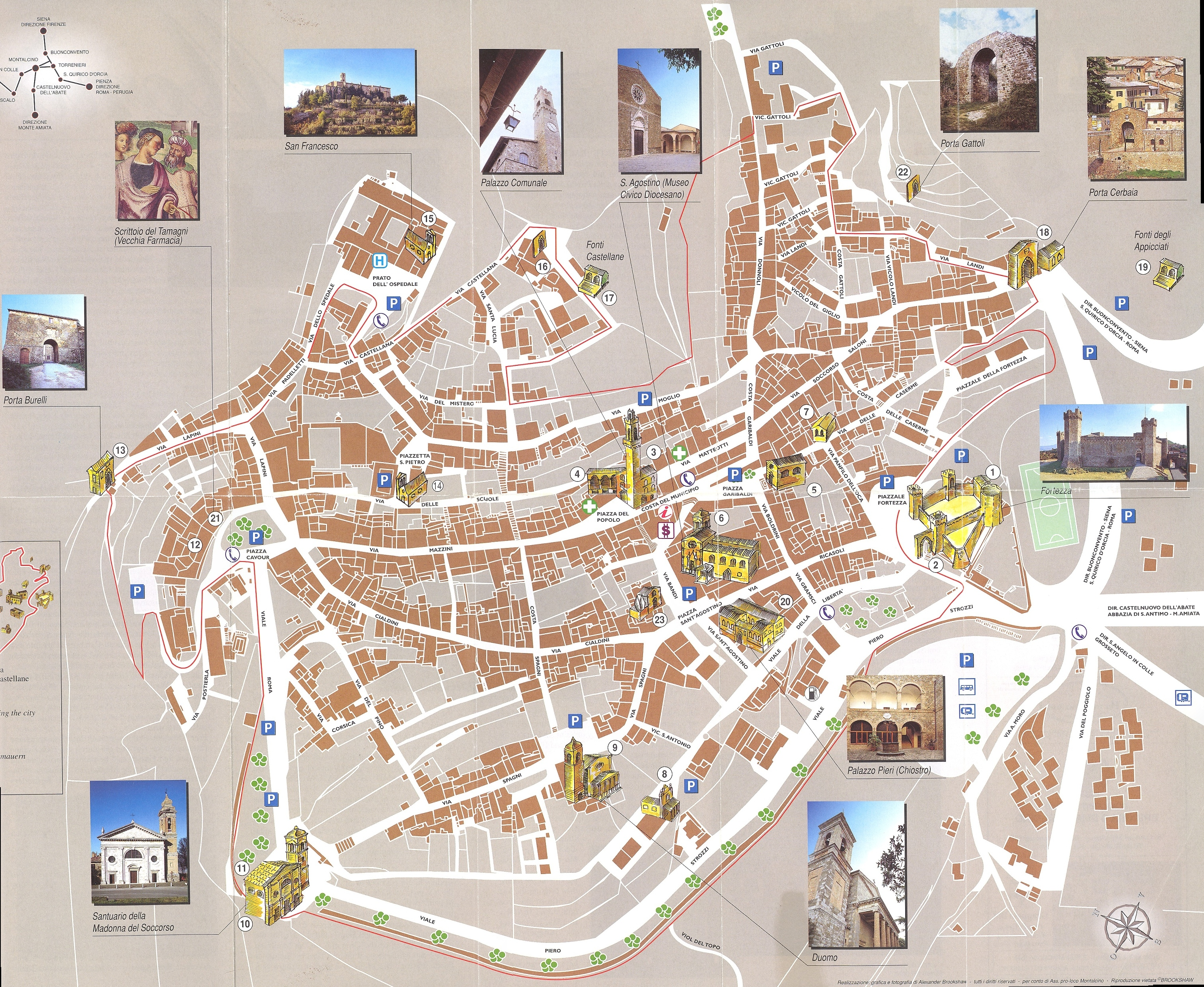 Montepulciano Map   montepulciano it • mappery