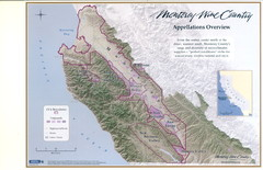 Monterey Wine Country: Appellation Overview Map