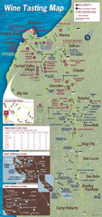 Monterey area wineries map