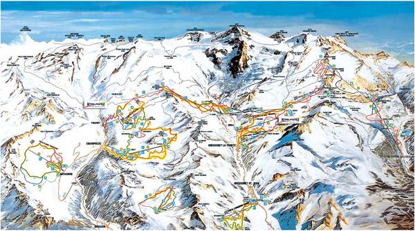 Monterosa Aosta ski map Monterosa Italy mappery