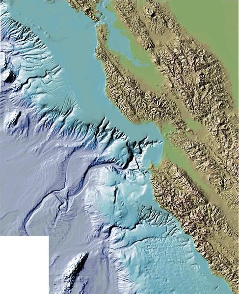 Montery Bay Sea Floor Map • mappery