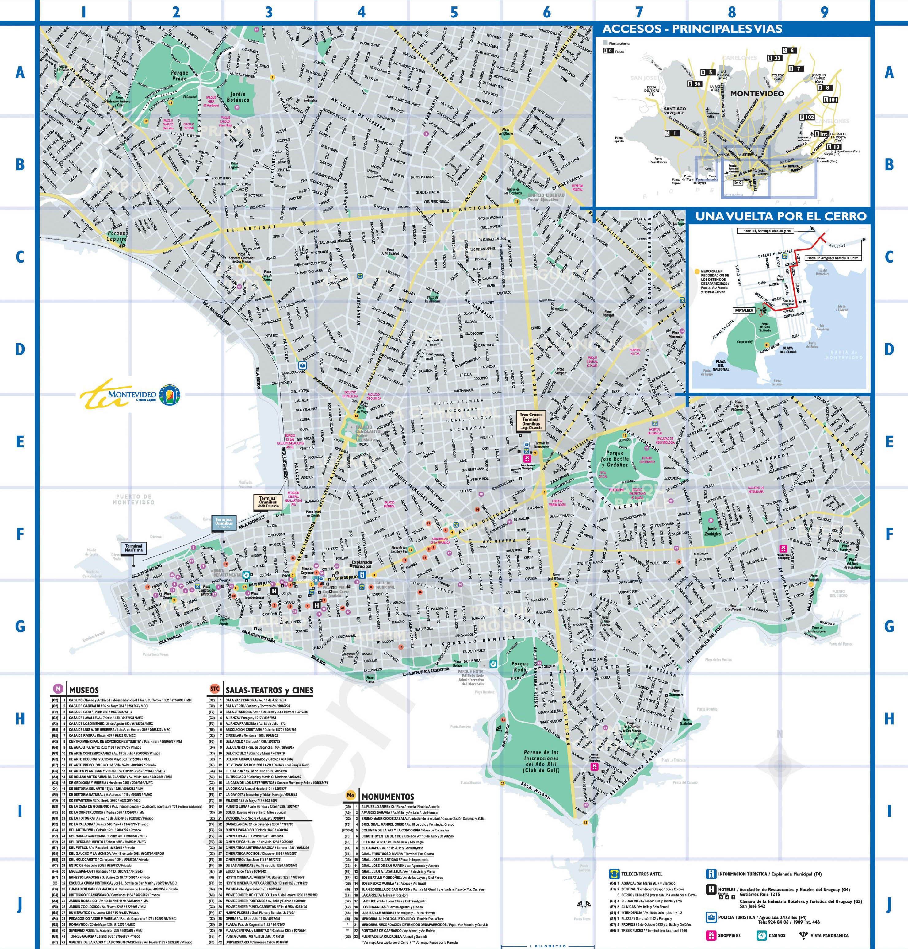 Montevideo Tourist Map - Montevideo Uruguay • mappery Montevideo Map