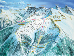 Montezuma Bowl Trail Map