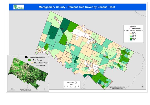 Montgomery County Tree Cover Map