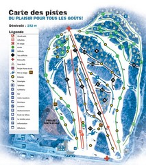 Montjoye Ski Trail Map