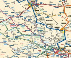 Montpellier City Tourist Map