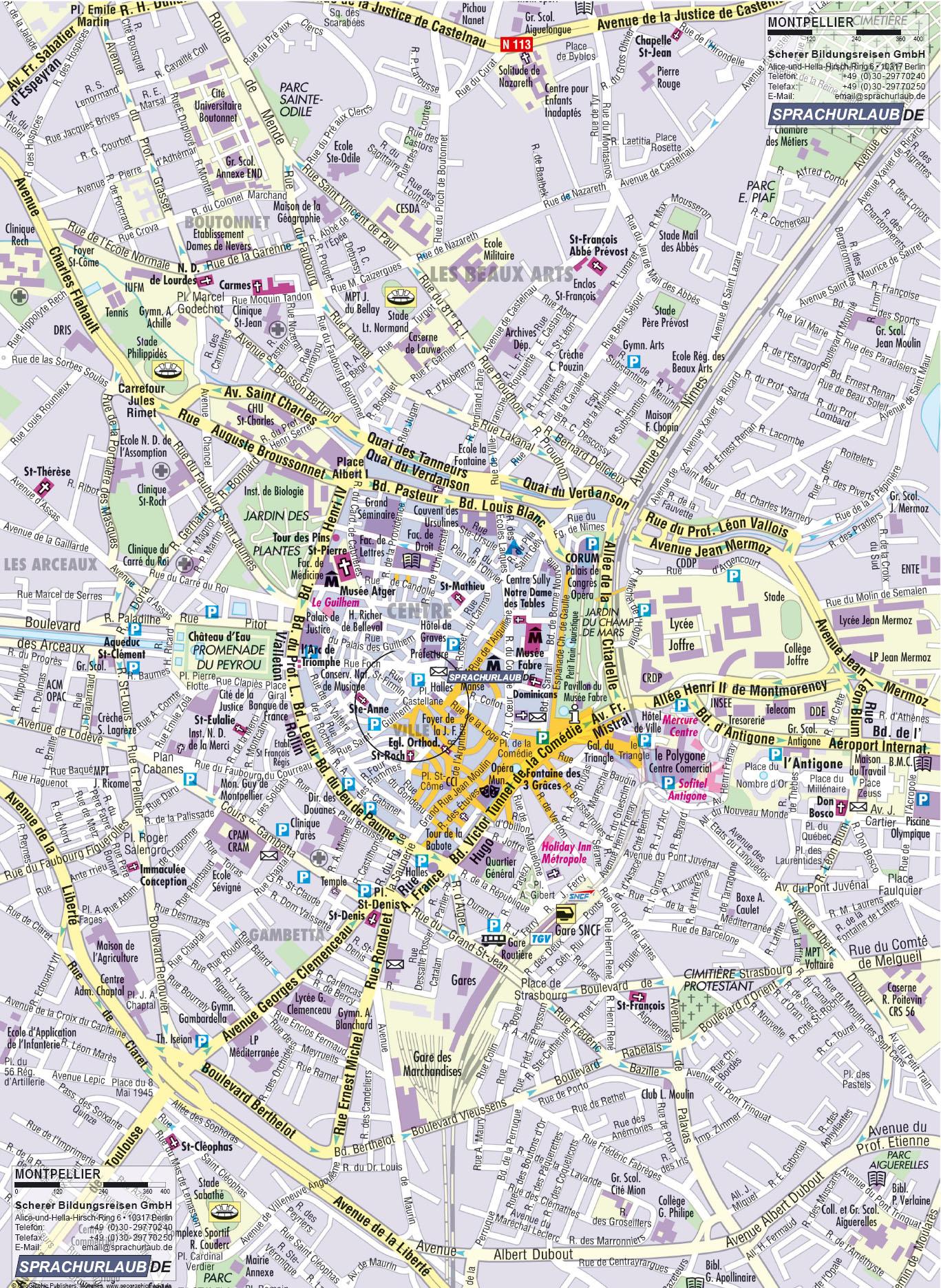 Montpellier Tourist Map - Montpellier France • mappery