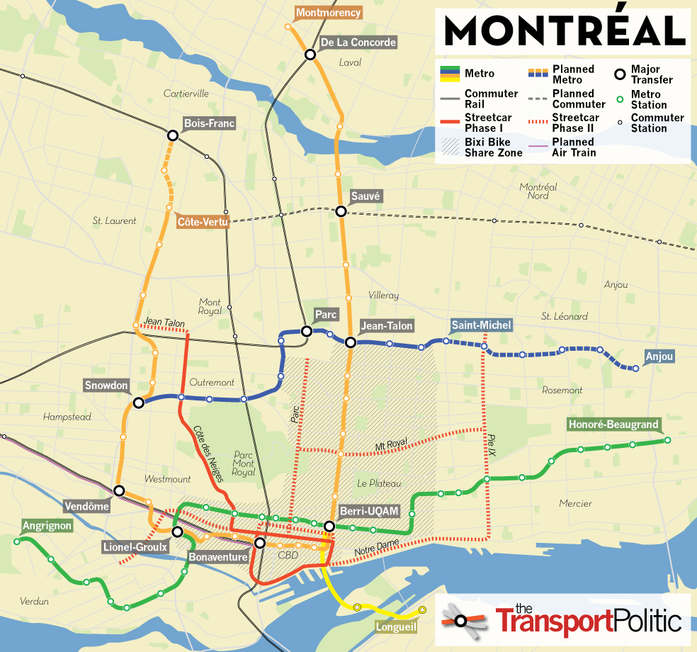 Montreal Tourist Map Montreal mappery