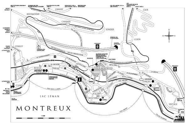 Montreux City Map
