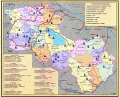 Monuments of Armenia and Nagorny Karabakh Map