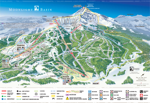 Moonlight Basin Ski Trail Map