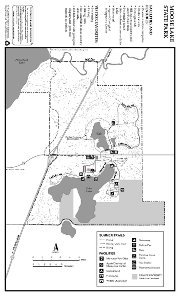 Moose Lake State Park Summer Map