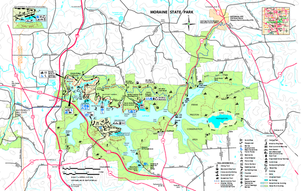 Moraine State Park map