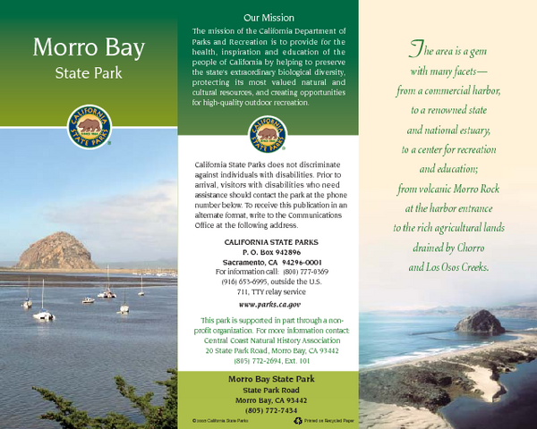 Morro Bay State Park Map