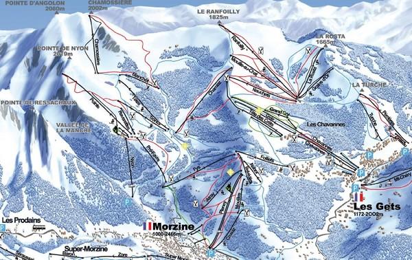 Morzine Morzine Ski Trail Map Morzine France mappery