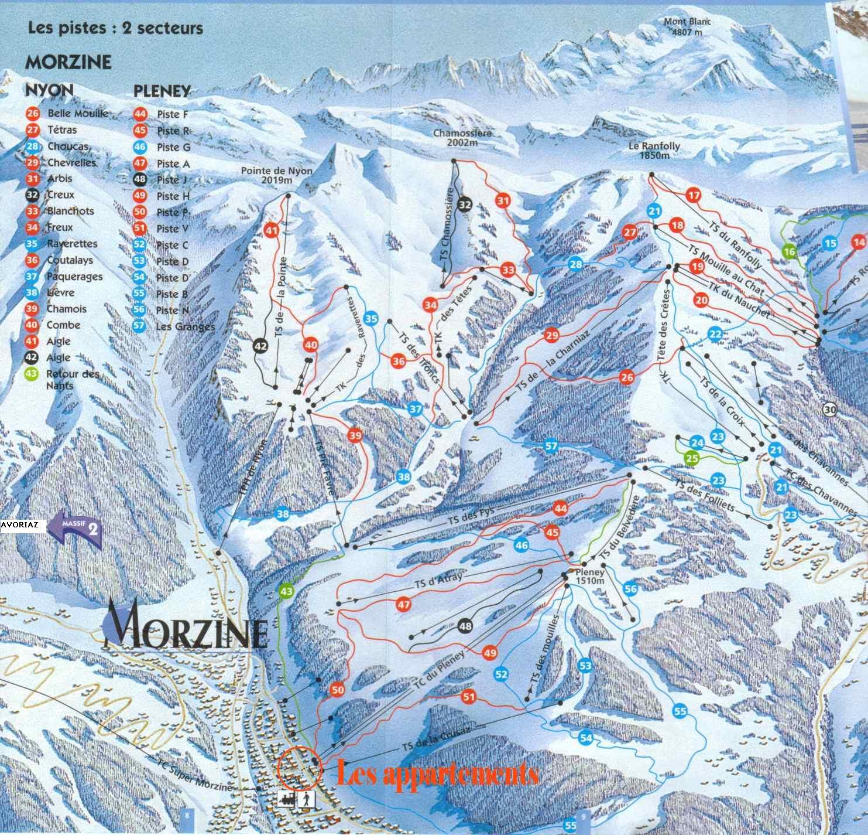 Morzine Trail Map Morzine France mappery