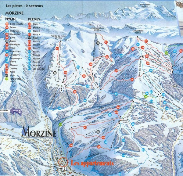 Morzine Trail Map