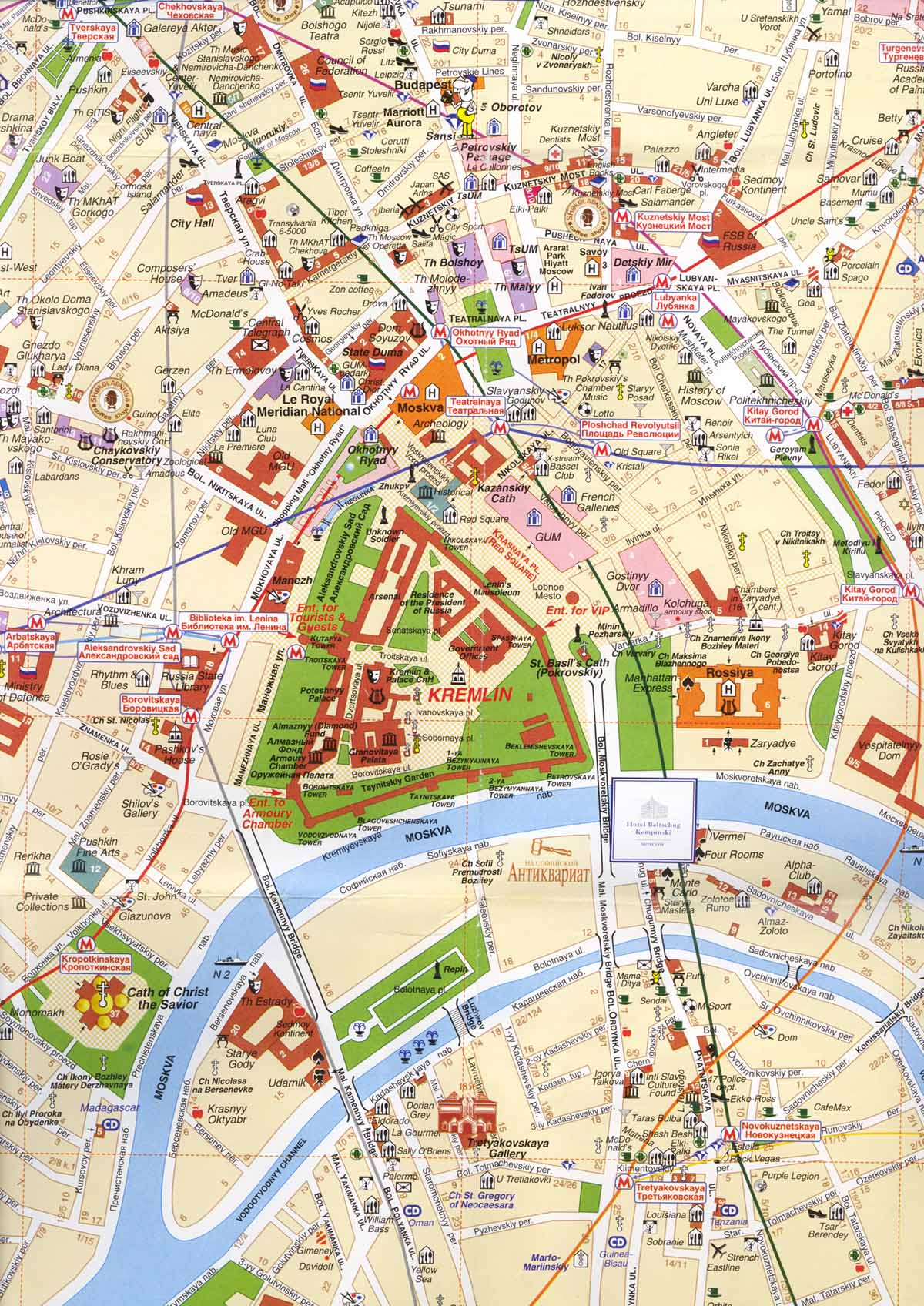 . moscow center map  moscow russia • mappery