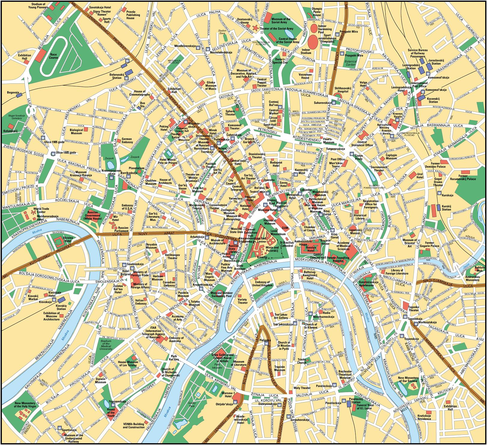 Moscow map see map details from fliiby com
